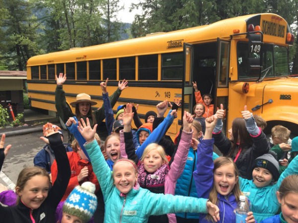 Students from Muldown Elementary enjoy a field trip to Glacier National Park