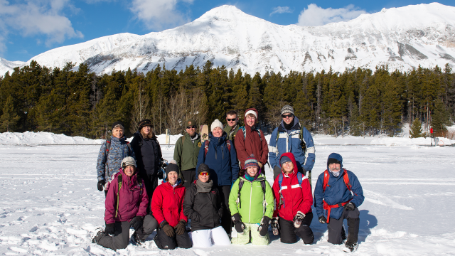 Teachers from the Flathead Valley participate in a workshop in Glacier National Park