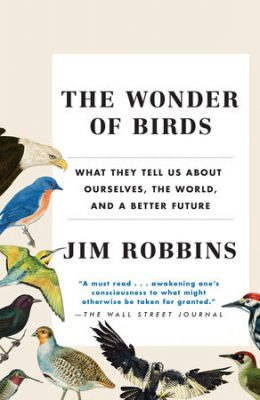 Birds on edge of book cover