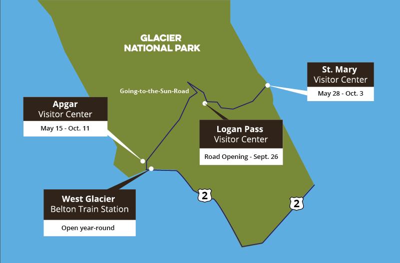 Map of Glacier Conservancy store locations