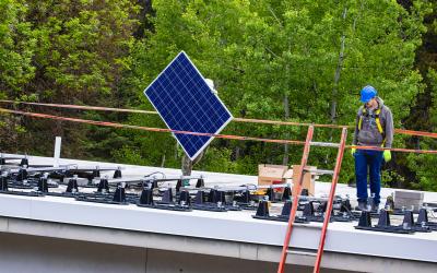 Solar Panels Installed at Park Headquarters