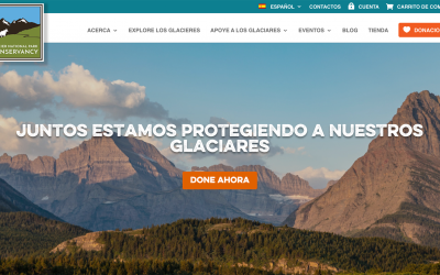 Glacier Conservancy's Website Published In Spanish